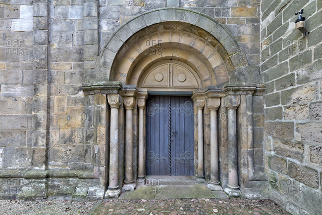 Mariental abbey, monastery church, entrance, portal, west facade, mariental, lower saxony, Germany, Europe