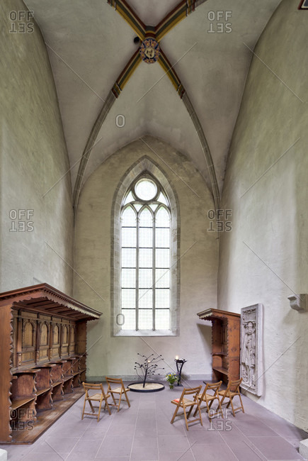 May 15, 2019: klosterkirche, riddagshausen, chapel on the north aisle, interior design, braunschweig, lower saxony, Germany, Europe