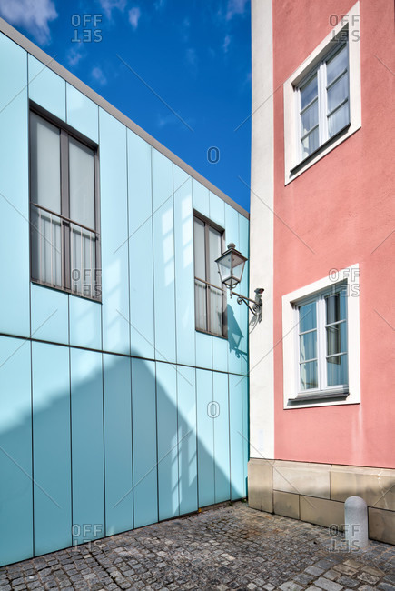 House facade, window, modern, architecture, ansbach, franconia, Bavaria, Germany, Europe,