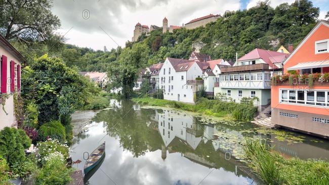 Harburg castle, wornitz river, old town, harburg, swabia, Bavaria, Germany