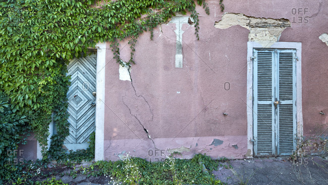 House facade, front door, old town, weissenburg, franconia, Bavaria, Germany