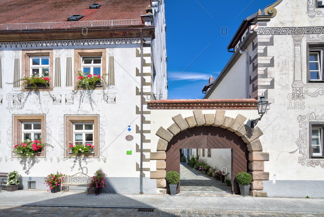 Princely hostel, benification house, house facade, architecture, wolfram-eschenbach, franconia, Bavaria, Germany