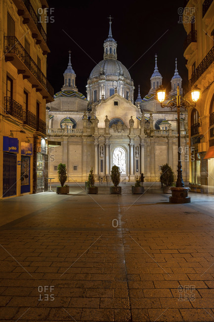 April 5, 2019: europe, spain, aragon, zaragoza, catedral-basílica de nuestra senora del pilar