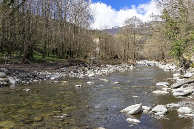 Europe, spain, catalonia, girona, ripollès, sant pau de segúries, ter river at sant pau de segúries