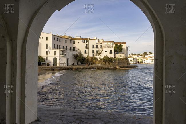 Europe, spain, catalonia, girona, alt emporda, cadaques, view of the bay of cadaques