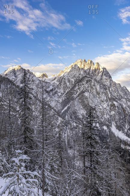 Europe, austria, tyrol, east tyrol, lienz, view of the mountains around the dolomitenhutte