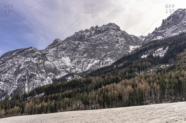 Europe, austria, tyrol, east tyrol, lienz, view of the mountains of the lienz dolomites