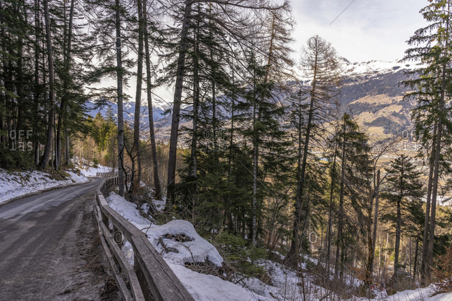 Europe, austria, tyrol, east tyrol, lienz, road in the ascent to the dolomitenhutte
