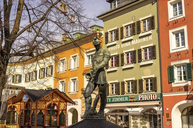 March 3, 2019: europe, austria, tyrol, east tyrol, lienz, street scene in lienz in east tyrol