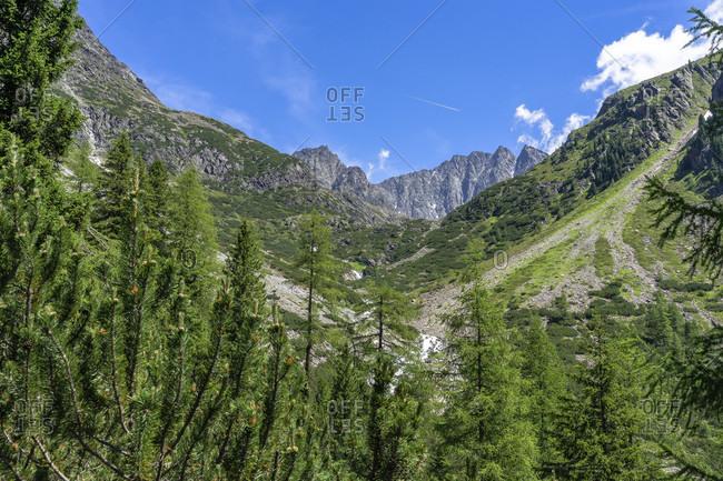 Europe, austria, tyrol, otztal alps, otztal, gries im sulztal, view of the mountains around the winnebachsehutte