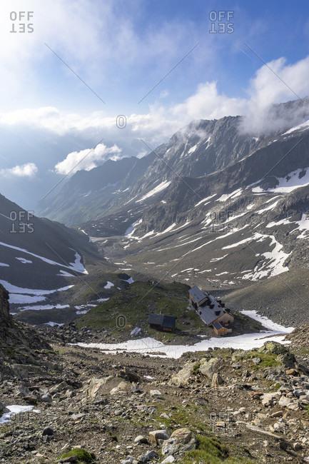 Europe, austria, tyrol, otztal alps, pitztal, plangeross, view of the kaunergrathutte