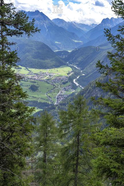 Europe, austria, tyrol, otztal alps, otztal, umhausen, view from the armelenhutte into the otztal