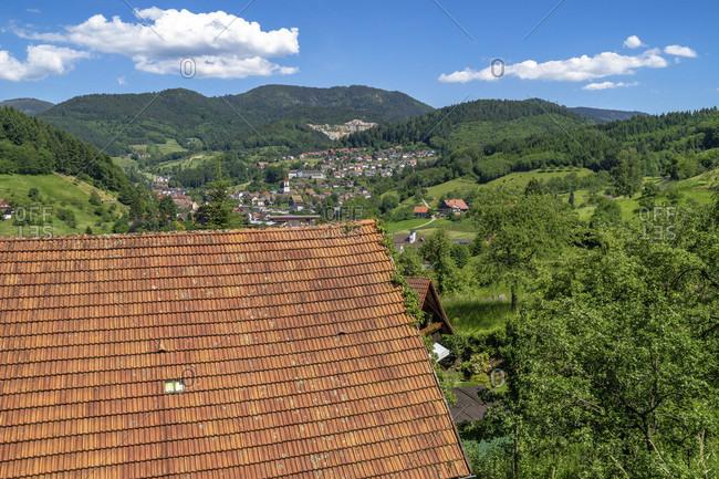 Europe, germany, baden-wuerttemberg, black forest, ottenhofen, view from muhlenweg to ottenhofen