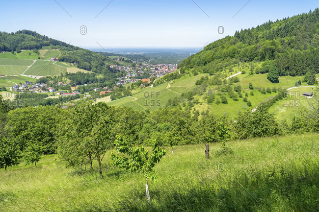 Europe, germany, baden-wuerttemberg, black forest, ottenhofen, view of the village of furschenbach