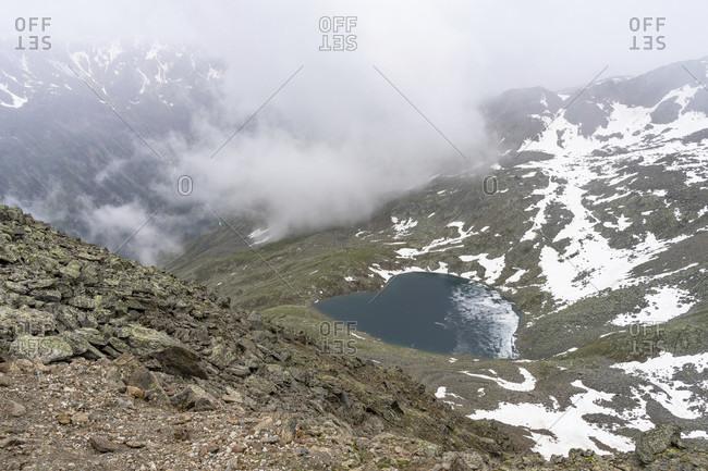 Europe, austria, tyrol, otztal alps, otztal, gaislachsee near solden in the otztal