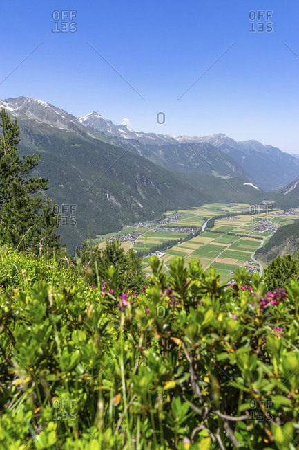 Europe, austria, tyrol, otztal alps, otztal, view into the otztal valley basin around längenfeld