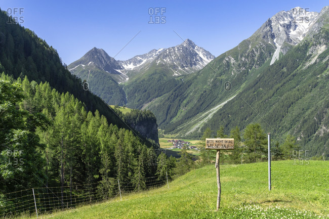 Europe, austria, tyrol, otztal alps, otztal, view from the brandalm down into the otztal and the surrounding mountains