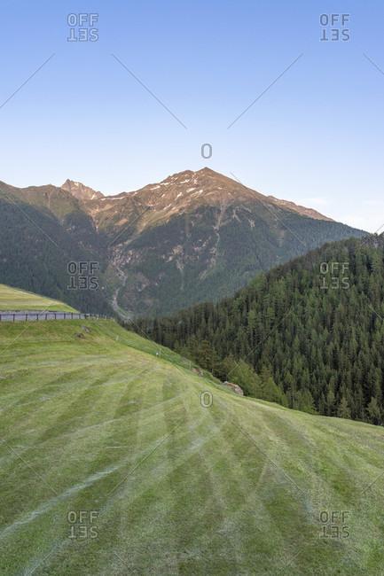 Europe, austria, tyrol, otztal alps, otztal, evening mood in niederthai