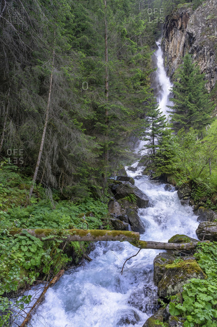 Europe, austria, tyrol, otztal alps, otztal, tumpener waterfall near tumpen in the otztal