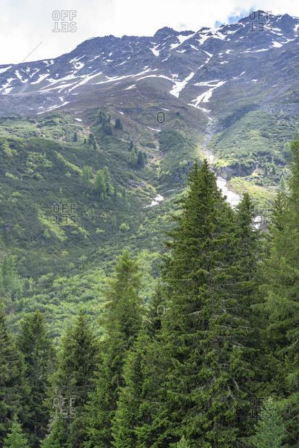 Europe, austria, tyrol, otztal alps, otztal, view from the wurzbergalm to the wurzberg