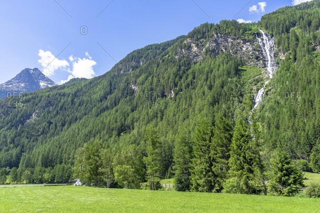 Europe, austria, tyrol, otztal alps, otztal, lehner waterfall at längenfeld in the otztal