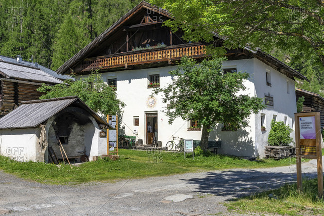 June 17, 2019: europe, austria, tyrol, otztal alps, otztal, local history museum in längenfeld