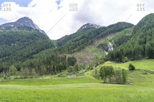 Europe, austria, tyrol, otztal alps, otztal, view of the otztal mountains near huben