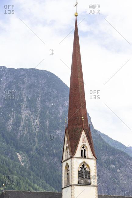 Europe, austria, tyrol, otztal alps, otztal, church tower of the parish church in oetz