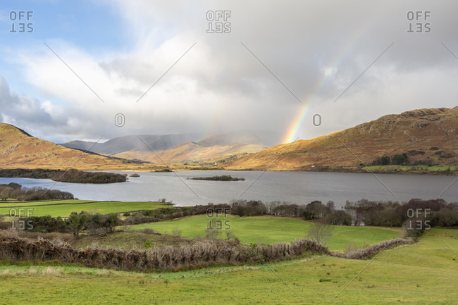 Lough mask, lake, county mayo, connacht province, republic of ireland