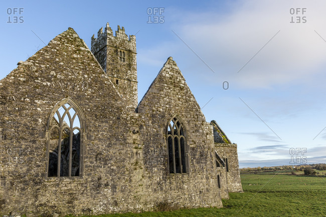 Ross errilly friary, former franciscan monastery, headford, galway, ireland