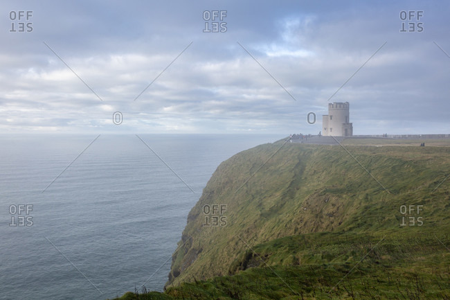 O'brian's tower, observation tower, cliffs of moher, cliffs, county clare, munster province, republic of ireland