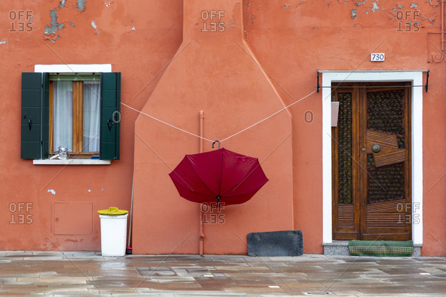 Colorful facades and houses, burano, venice lagoon, italy