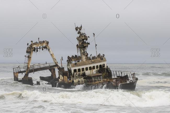Zeila Shipwreck, Shipwreck, Skeleton Coast Park, Namibia