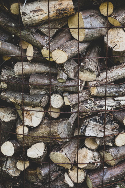 Wood, firewood, stack, stock, winter
