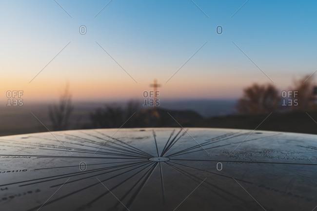 Sunset, Lochenstein, Balingen, Swabian Alb, Baden-Wurttemberg, Germany, Europe