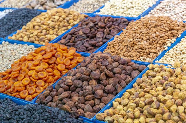 Stalls in the Osh Bazaar, Bishkek, Kyrgyzstan