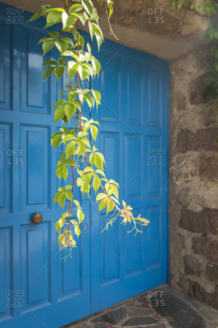 Sicily - Sunny impressions of the Aeolian Islands, Romantic house entrance, Panarea.