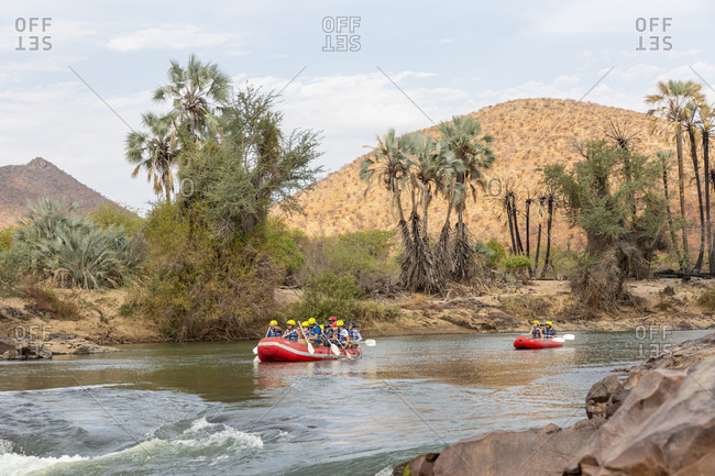 October 30, 2019: Rafting on the Kunene, Epupa Falls, Kaokoland, Namibia