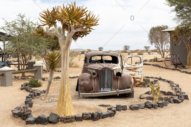 October 10, 2019: Canon Roadhouse, restaurant and lodge, rest house with vintage decoration, Fish River Canyon