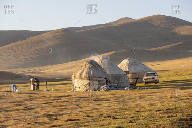Nomads, Song Kol Lake, Song Kol National Park, Kyrgyzstan