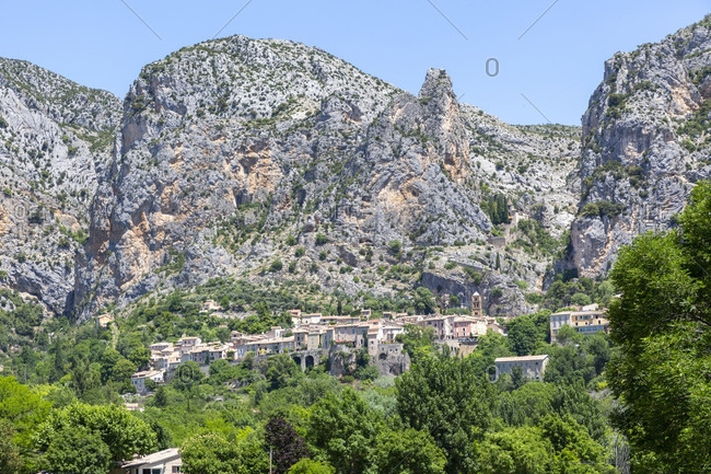 Moustiers-Sainte-Marie is a commune in the Alpes-de-Haute-Provence department in the Provence-Alpes-C�te d'Azur region of France. The tourist resort is one of the most beautiful villages in France