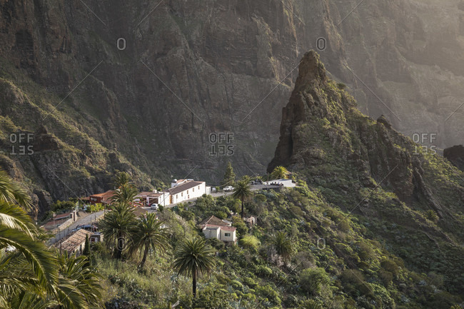Mountain village Masca in the Teno Mountains, Tenerife, Canary Islands, Spain