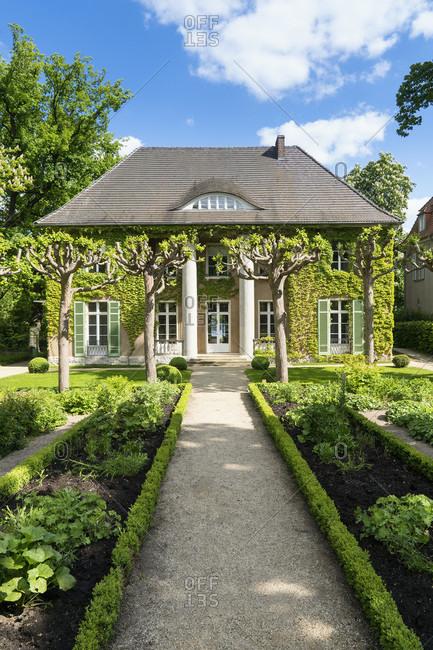May 15, 2020: Berlin, Wannsee, Liebermann Villa, garden, visual axis