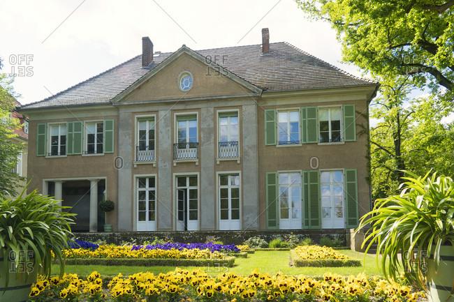 May 15, 2020: Berlin, Wannsee, Liebermann Villa, garden, lake side