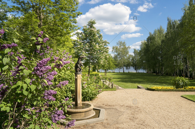 May 15, 2020: Berlin, Wannsee, Liebermann Villa, garden with lake view