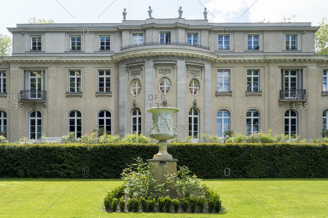 May 15, 2020: Berlin, Wannsee, House of the Wannsee Conference, lake side