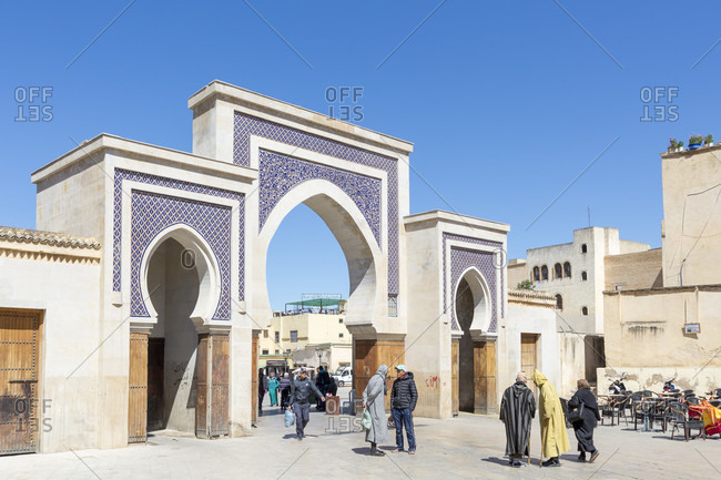 March 21, 2019: City gate Bab Rcif, Fes, Morocco