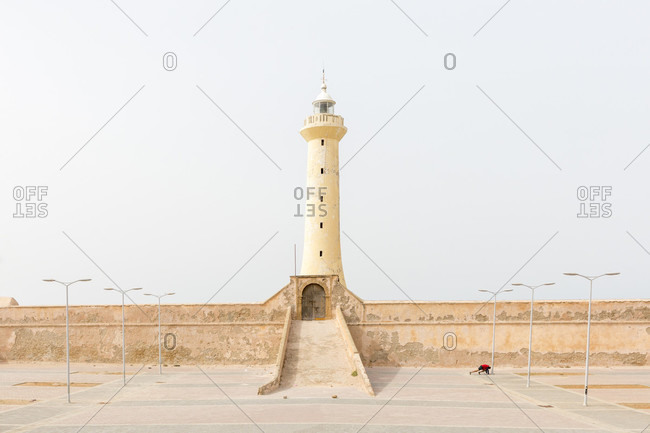 Lighthouse and landscape in Rabat, Morocco
