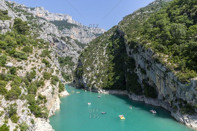 Lac De Ste Croix, Verdon Gorge, Gorges du Verdon, also Grand Canyon du Verdon, is a gorge in the French Provence, Alpes-de-Haute-Provence, France