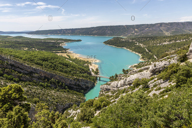 Lac De Ste Croix, Verdon Gorge, Gorges du Verdon, also Grand Canyon du Verdon, is a gorge in the French Provence, Alpes-de-Haute-Provence, France